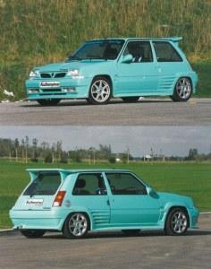 """kit carrosserie """"Asphalte"""" Esquiss'Auto pour super 5 gt turbo"""