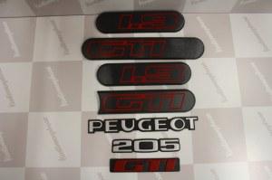 Kit Complet Monogramme Logo peugeot 205 gti 1L9 phase 2 noir