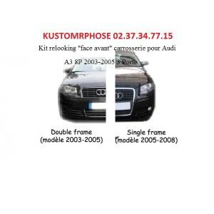 Kit transformation Audi A3 8P 2003-2005 en single Frame