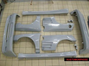 Kit carrosserie Maxi look turbo 2 pour super 5 gt turbo