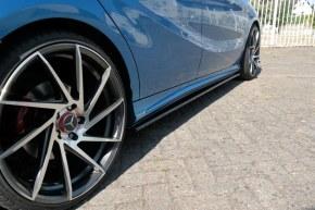 Lame de bas de caisse noir brillant pour Mercedes classe A W176 AMG