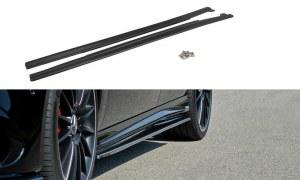 Lame de bas de caisse noir brillant pour Mercedes classe A W176 AMG Facelift