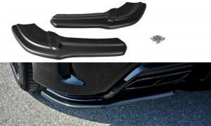 Lame de coin de pare choc arrière noir brillant pour Mercedes classe A W176 AMG Facelift