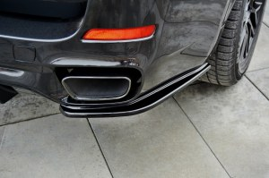 Lame de pare choc arrière BMW X5 F15 Pack M Noir Brillant