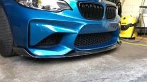 lame de pare choc avant carbone CS Style pour BMW Série 2 M2 F87