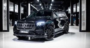 Lame de pare choc avant Carbone LARTE Design pour Mercedes GLS X167