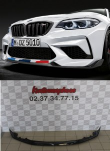 lame de pare choc avant carbone M perforance pour BMW Série 2 M2 Compétition