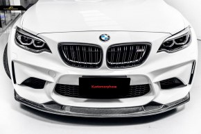 lame de pare choc avant carbone MTC Style pour BMW Série 2 M2 F87