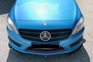 Lame de pare choc avant noir brillant pour Mercedes classe A W176 AMG LINE