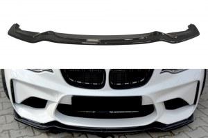 lame de pare choc avant noir brillant pour BMW Série 2 M2 F87
