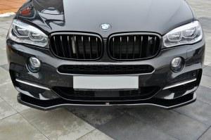 Lame de pare choc avant / SPLITTER V.1 BMW X5 F15 Pack M Noir Brillant