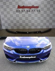 Lame pare choc avant carbone CS BMW M4 F82 F83 M3 F80