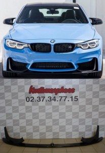 Lame pare choc avant + Splitter carbone M Performance BMW M4 F82 F83 M3 F80