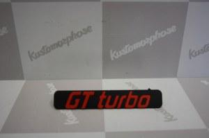 logo Monogramme en plastique de calandre GT Turbo pour RENAULT 5 gt turbo phase 1