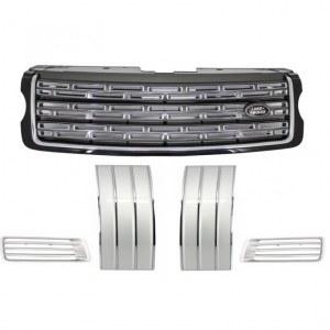 Pack Calandre Noir Argent pour Range Rover Vogue 2013- Up Black Grey Edition
