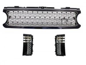 Pack Calandre Noir / Gris pour Range Rover Vogue look Autobiography Black Grey Edition