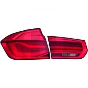 Paire de feux arrières look facelift BMW Série 3 F30 Berline de 2011 à 2015 - rouge
