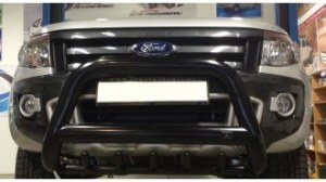 Pare buffle Noir version 2 pour Ford Ranger T6 - Ø90mm