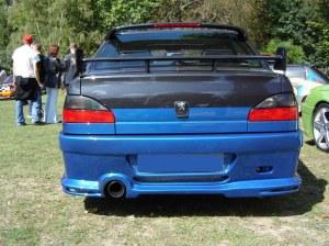 """Pare choc arrière simple sortie """"EMOTION"""" JN-Design pour Peugeot 306 Berline a coffre"""