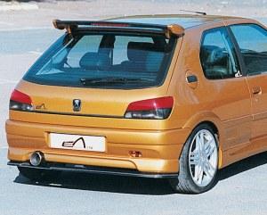 """Pare choc arrière simple sortie d'échappement """"Mygale"""" Esquiss'Auto pour Peugeot 306 3 et 5 portes avec extension"""
