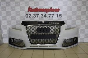Pare choc avant audi a3 8P2 08-2012 look RS3 avec emplacement Antibrouillard + Calandre RS3