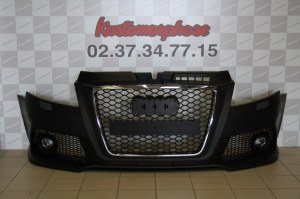 Pare choc av Audi A3 look RS3 calandre chrome 08-2012