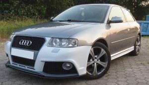 Pare choc avant Audi A3 8L look RS3 avec emplacement Antibrouillard
