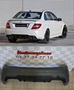 Pare-chocs arrière pour Mercedes classe C type C63 AMG - AVEC PDC - Double sortie