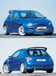 """Kit large Peugeot 206 """"IMPACT R"""" 3 porte Esquiss'auto"""