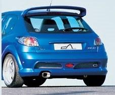 """Pare choc arrière Peugeot 206 """"IMPACT R"""" Large Esquiss'auto"""