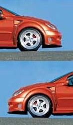 """Paire d'aile avant Peugeot 206 """"IMPACT"""" Esquiss'auto"""