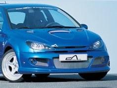 """Pare choc avant Peugeot 206 """"IMPACT R"""" Large Esquiss'auto"""