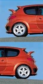 """Paire d'aile arrière Peugeot 206 3 portes """"IMPACT"""" Esquiss'auto"""