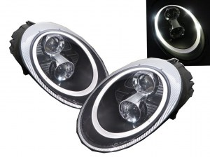 PHARES BLOCS OPTIQUES 991 LED RING BLACK SERIES POUR PORSCHE 997 MKI ÉQUIPÉS XÉNON