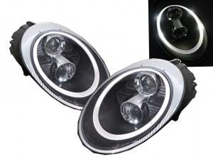 PHARES BLOCS OPTIQUES 991 LED RING BLACK SERIES POUR PORSCHE 997 MKI