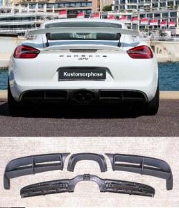 Diffuseur GT4 Porsche Boxster et Cayman 981