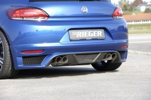 Échappement inox duplex 4x90mm VW Scirocco RIEG
