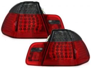 Feux Arrières a LED pour BMW E46 Berline Rouge Noir