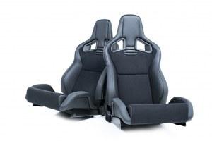 Paire de siège Recaro Sportster cs dinamica noir simili cuir noir