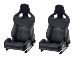 Paire de siège Recaro Sportster cs simili cuir noir