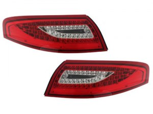 FEUX AR LED POUR PORSCHE 996 LOOK 997 MKII RED & CRYSTAL