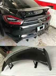 Aileron carbone GT4 Look pour Porsche Cayman 981