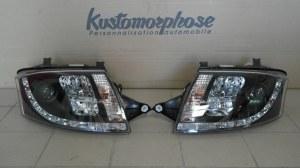 phares av à LED diurnes, DragonLights, noir Audi TT