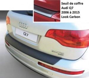 Seuil de coffre Audi Q7 2006 à 2015 Look Carbone