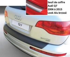 Seuil de coffre Audi Q7 2006 à 2015 Look Alu brossé