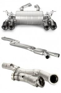 ECHAPPEMENTS + intermédiaire + DownPipe AKRAPOVIC BMW M3 F80 - M4 F82