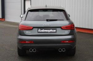 Silencieux arrière duplex inox pour Audi Q3- 2X90