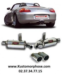 Silencieux arrière SUPERSPRINT RACING avec double sortie 90mm Porsche 986