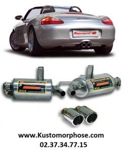 """Silencieux arrière SUPERSPRINT """"Power Loop"""" avec double sortie 90mm Porsche 986"""