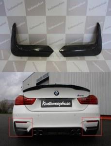 Splitter coin de pare choc arrière carbone BMW M4 F82 F83 M3 F80